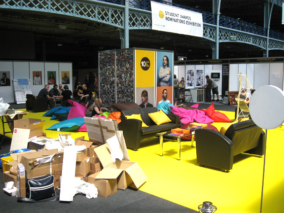 "The fantastic ""Hub"", with lots of bean bags to relax on."
