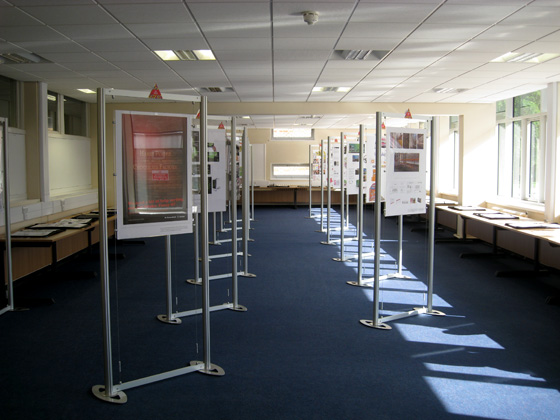 The exhibition, ready for opening night.