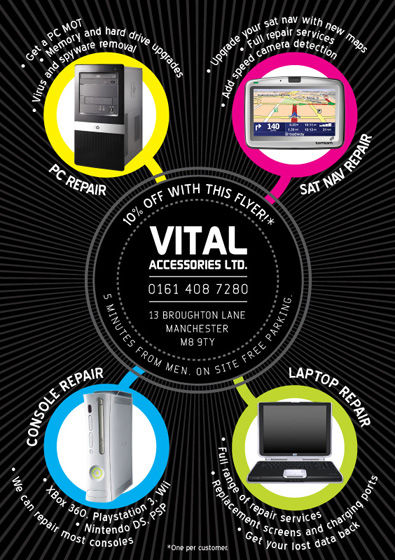 Vital Accessories flyer (Front)