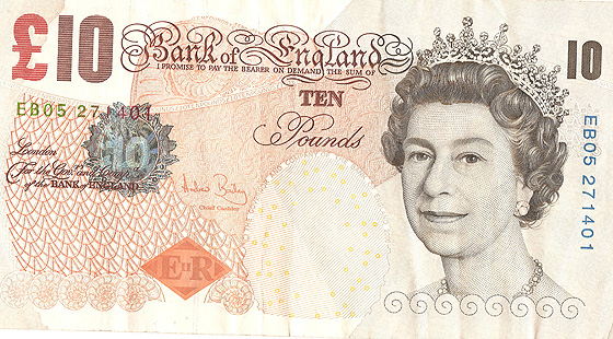 Guilloches can be found on banknotes.