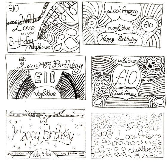 A few rough voucher sketches.