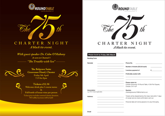 The front and back of the flyer.