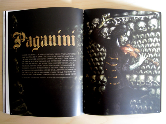 The Paganini comic spans the last few pages of the magazine.